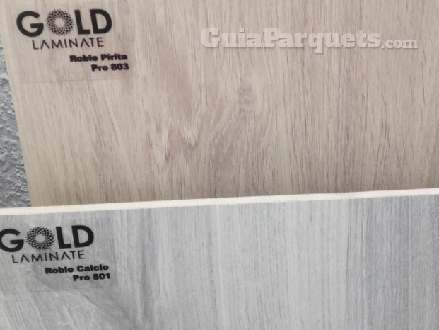 Muestras GOLD LAMINATE
